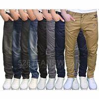 Crosshatch Mens Designer Twisted Leg Regular Fit Tapered Chinos Jeans, BNWT