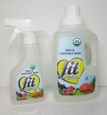 Fit Organic Fruit & Vegetable Produce Wash 12oz Spray & 32oz Refill