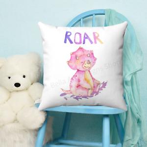 Dinosaur ROAR Childrens Throw Pillow - Nursery Room - Kids Bedroom Decor - Gift