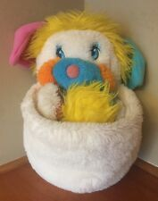 Vintage Puffball Popples Plush Toy Mattel 1985 Very Clean & Bright White Stuffed