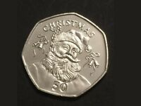 New 50P Christmas Coin Gibraltar 2017 UNC Fifty Pence Santa