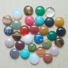 Wholesale 30pcs natural gemstone mixed round CAB CABOCHON stones beads 18mm