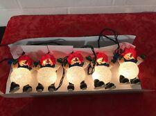 Snowman String Lights Set of 5 Skating  snowmen WORKS PERFECT