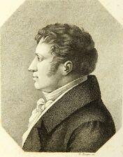 G.ZUMPE (1793-1854), Porträt August Wilhelm Schlegel (1793-1854), KSt.