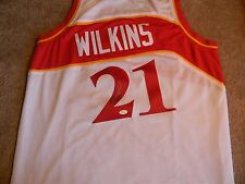 DOMINIQUE WILKINS  autographed ATLANTA HAWKS Jersey with JSA Witnessed Hologram