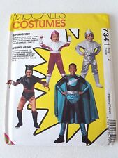 VTG McCalls Pattern 7341 Kids Sz 2 SUPER HERO Spacesuit Costume HALLOWEEN UNCUT