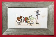 Künstler AK 1906 Automobil Unfall mit Rind Bulle Kuh    ( 5514