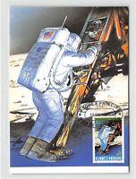 S.TOME MK WELTRAUM MONDLANDUNG SPACE MOONLANDING CARTE MAXIMUM CARD MC CM m225
