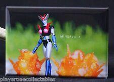 "Minerva X 2"" X 3"" Fridge / Locker Magnet. Toy Photography"