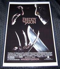 Freddy Vs Jason Voorhees Krueger 11X17 Movie Poster with Credits