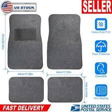 4pcs Universal Car Truck Front Rear Carpet Floor Mats Set  w/ Heel Pad Non-Slip