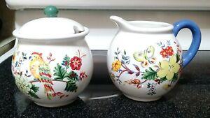 Pfaltzgraff Paradise Smooth Sugar Bowl w/ Lid and Creamer