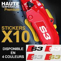 Stickers autocollants adhésif étrier de frein AUDI S3 A3 RS3 S-line Quattro TFSI