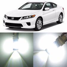 Alla Lighting Front Signal Light 1157 White LED Bulb for98~15 Honda Accord Sedan