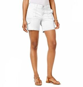 Style & Co Shorts 12 Petite Comfort Waist Mid Rise White NEW $46 Summer