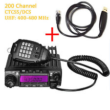 Car walkie-talkie UHF 400-480Mhz High power long distance mobile transceiver
