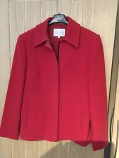 Lakeland Red Wool Jacket In Size 14