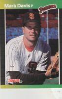 FREE SHIPPING-MINT-1989 Donruss San Diego Padres Baseball Card #65 Mark Davis