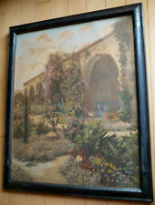 CHARLES SAWYER, LISTED HAND TINTED HANDCOLORED PHOTOGRAPH SPANISH MISSION SIGNED