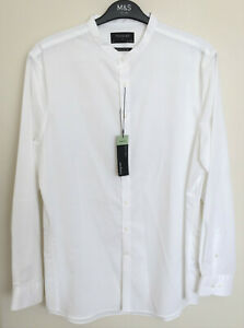 M&S Autograph Size XL 44-46in Chest Supima Cotton Slim Fit Long Sleeve Shirt