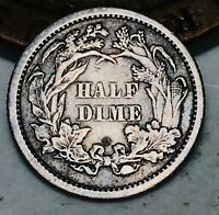 1870 Seated Liberty Half Dime 5C High Grade Details Good Silver US Coin CC4258