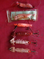A COLLECTION OF VINTAGE ARTIFICIAL PRAWN LURES INC. ADYS & UNNAMED PERCY WADHAM