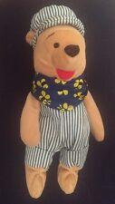 """Toy Soft Cuddly Plush 8"""" Disney Choo Choo Train Driver Pooh Winnie The Pooh"""