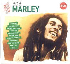 BOB MARLEY - ALL YOU NEED IS: BOB MARLEY 3 CD NEUF