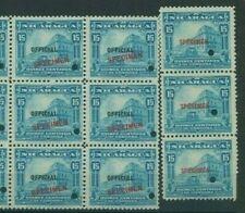More details for nicaragua 1914 15c *official* spelling error specimen & colour trial blocks mf61