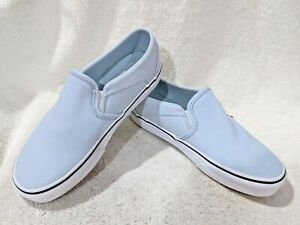 Vans Women's Asher Ballad Blue/White Canvas Slip On Skate Shoes - Asst Sizes NWB