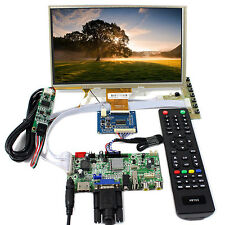 "HDMI VGA AV Audio USB  LCD Controller Board 9"" AT090TN10 800x480 Touch LCD"
