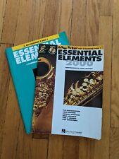 Lot of 2 Essential Elements Alto Saxophone books