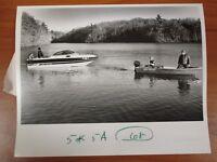 Vintage Glossy Press Photo Natick MA Lake Cochituate Fisherman Rescue #1 3/5/91