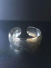Bracelet Cuff Silver Boho Ethnic Tribal Gypsy Bohemian Adjustable B1011