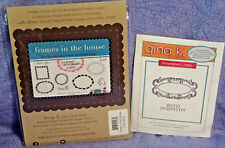 Lot of 2 Rubber Stamps: Unity Stamps / Gina K: Labels / sentiments: New