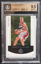 2002-03 SP authentic Mike dunlevy rookie bgs 9.5