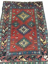 "4068 antique rug Kazak, 5'6"" x 3'11"""