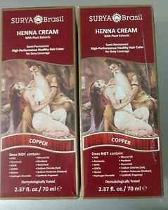 (2) Henna Copper Cream by Surya Brasil, 2.3 oz EXP08/2021 FREE SHIPPING