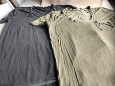 We the Free Lot 2 Olive & Black Shirts front pocket rayon spandex Size XS