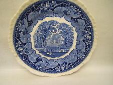 "Vintage Mason's ""Vista"" Blue Transferware Salad Plate 7 7/8"" England VGC"