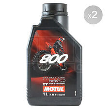 Motul 800 2T Factory Line Off Road 2 Stroke Motorcycle Oil 2 x 1 Litres 2L