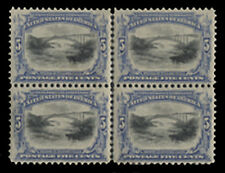 Scott US# 297 - Block of 4 w/ vertical line, VF OG HR, some separations