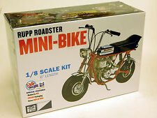 MPC 1/8 Rupp Roadster Mini Bike Plastic Model Kit 849 Molded in Red Plastic