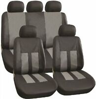 Streetwize Car Vehicle Leather Look Full Seat Cover Set in Black and Grey SWSC69