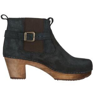 Sanita 'Peggy-Sue' Jodhpur Clog Boots in Black (Art:454222) - Wooden