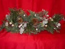 Silver Glitter Pine Swag Vintage Home Interiors & Gifts New My last Pair