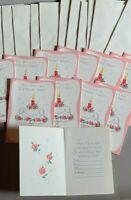 VINTAGE BIRTHDAY INVITATIONS WITH ENVELOPES UNUSED NOS 12 CARDS