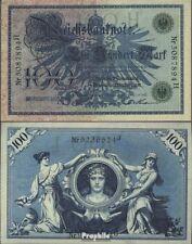 Deutsches Reich 1908 100 Mark Rosenberg 34 gebraucht