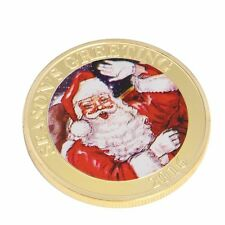 Seasons Greetings 2016 Commemorative Coin Santa Deer Merry Christmas Collection