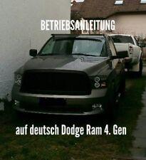 Betriebsanleitung Deutsch Dodge Ram ab Bj. 2009 4. Gen. 500 Seiten